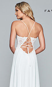 Image of Faviana open-back prom dress with beaded bodice. Style: FA-10005 Detail Image 7