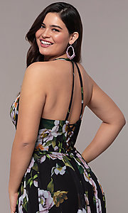 Image plus-size Faviana floral-print prom dress. Style: FA-9431 Detail Image 4