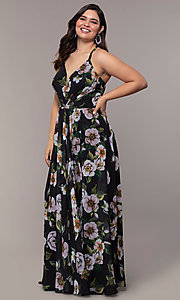 Image plus-size Faviana floral-print prom dress. Style: FA-9431 Detail Image 5