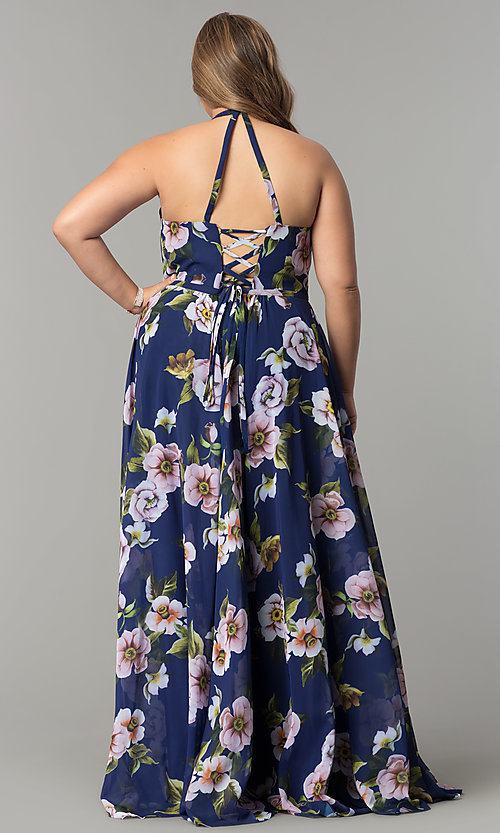 Image plus-size Faviana floral-print prom dress. Style: FA-9431 Detail Image 7