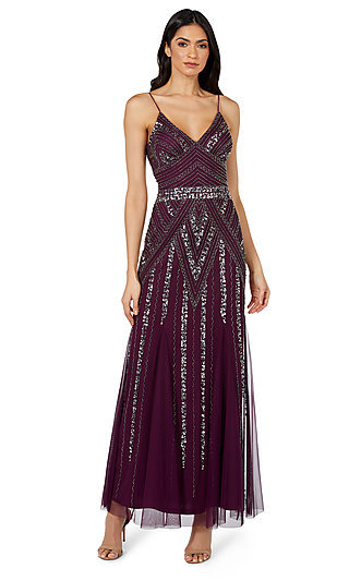 Long V-Neck Formal Evening Gown 10582i by Jump