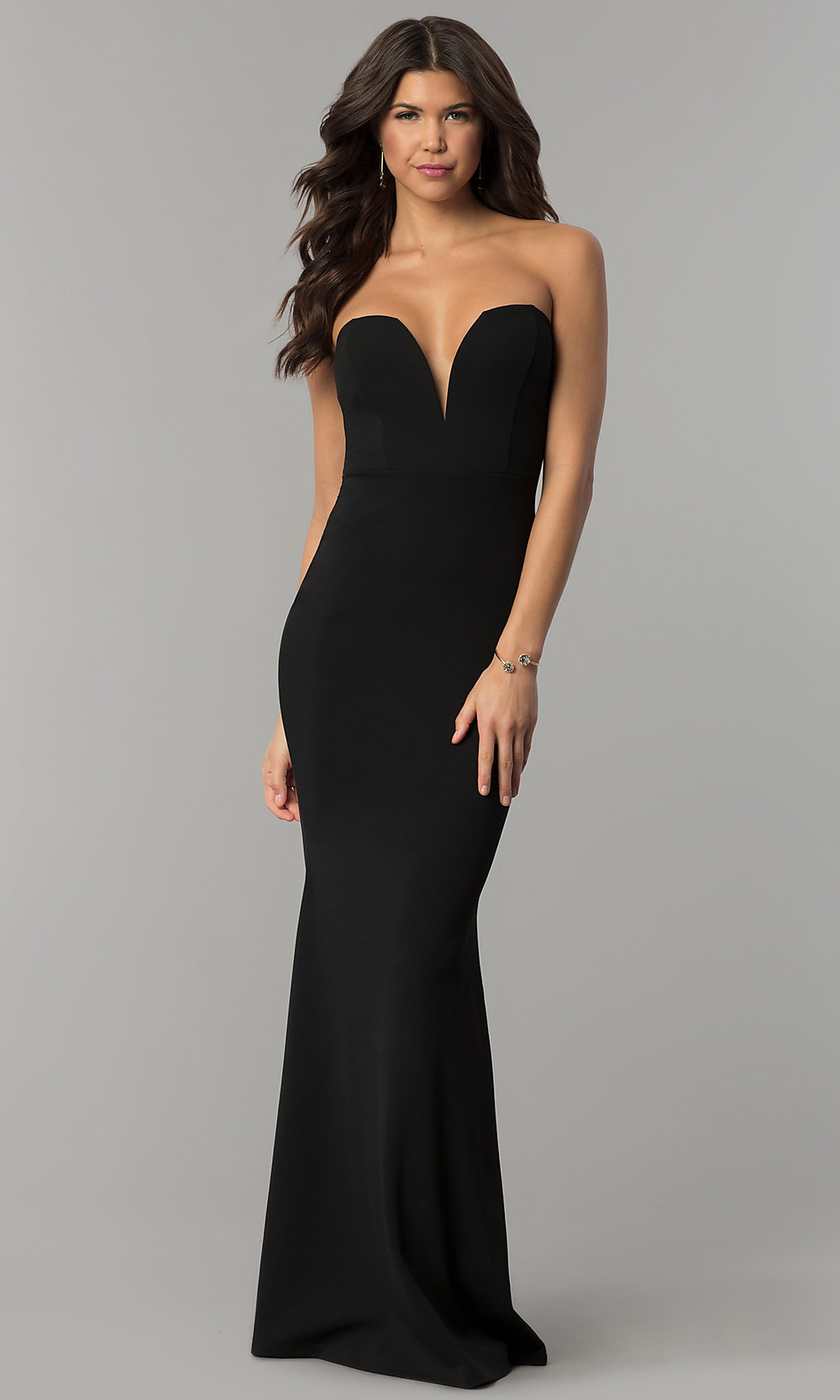Long Formal Military Ball Dress with Ruching