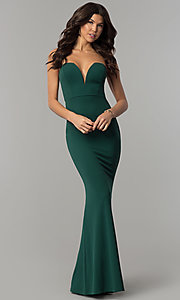 Image of deep-sweetheart strapless military ball dress. Style: SY-IDM5305VP Detail Image 2