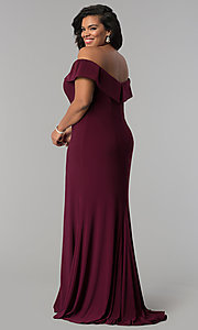 Image of Faviana long plus-size prom dress in jersey. Style: FA-9441 Back Image