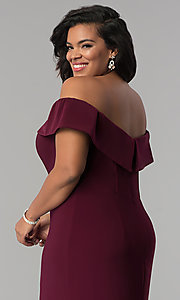 Image of Faviana long plus-size prom dress in jersey. Style: FA-9441 Detail Image 2