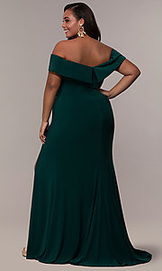 Image of Faviana long plus-size prom dress in jersey. Style: FA-9441 Detail Image 7