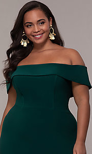 Image of Faviana long plus-size prom dress in jersey. Style: FA-9441 Detail Image 8