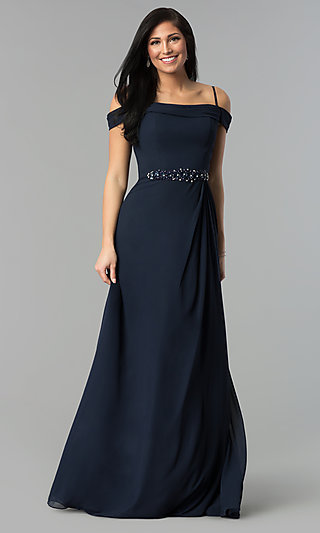 Blue Formal Gowns And Cocktail Dresses In Blue