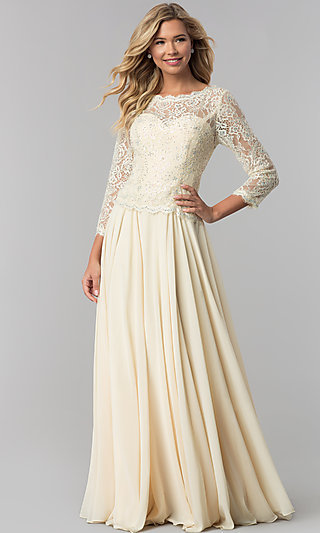 chiffon prom dress with sleeves