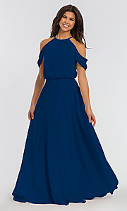 Image of chiffon bridesmaid dress by Kleinfeld. Style: KL-200012 Detail Image 7