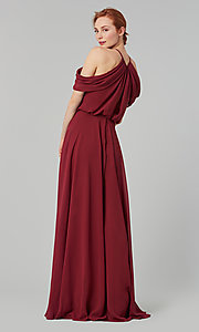 Image of chiffon bridesmaid dress by Kleinfeld. Style: KL-200012 Back Image