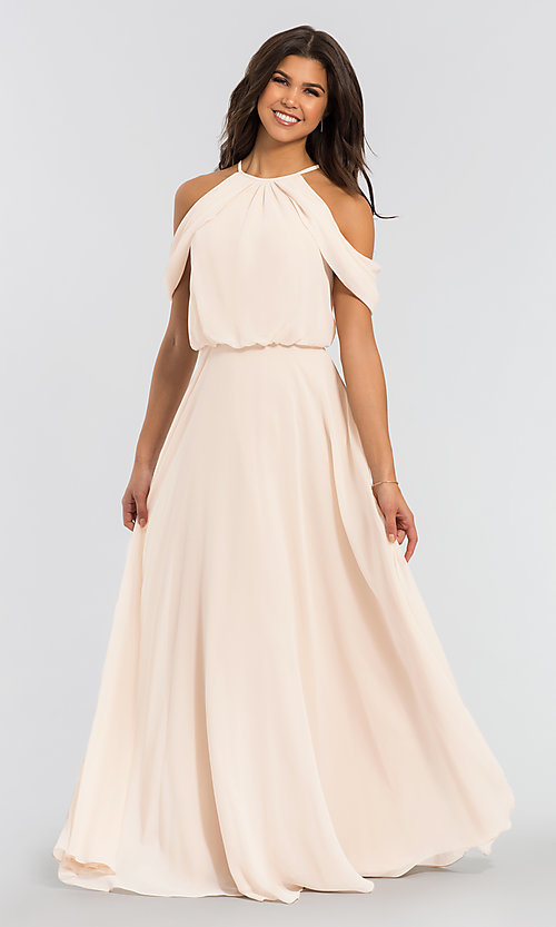 Image of chiffon bridesmaid dress by Kleinfeld. Style: KL-200012 Detail Image 2
