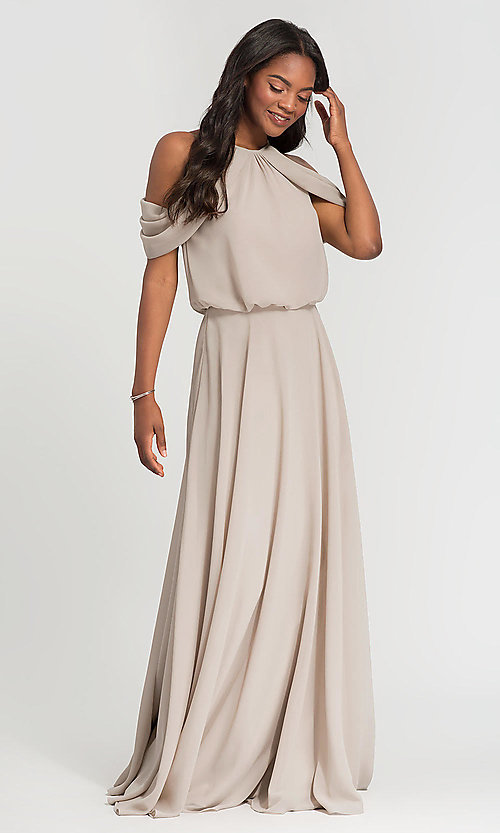 Image of chiffon bridesmaid dress by Kleinfeld. Style: KL-200012 Detail Image 6