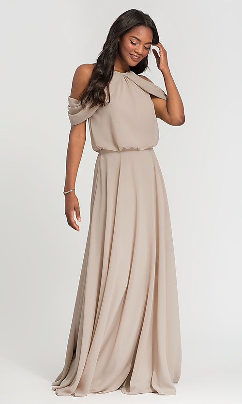 Image of chiffon bridesmaid dress by Kleinfeld. Style: KL-200012 Detail Image 3