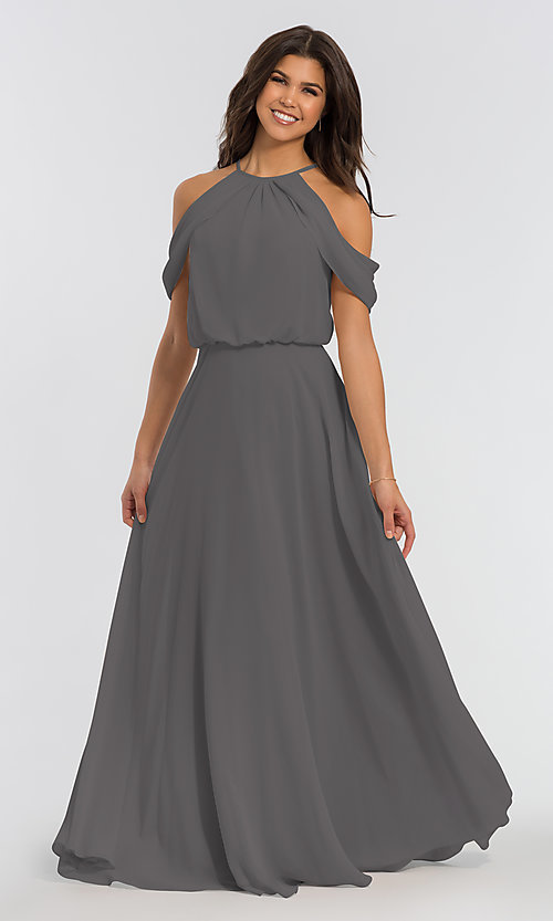 Image of chiffon bridesmaid dress by Kleinfeld. Style: KL-200012 Detail Image 8