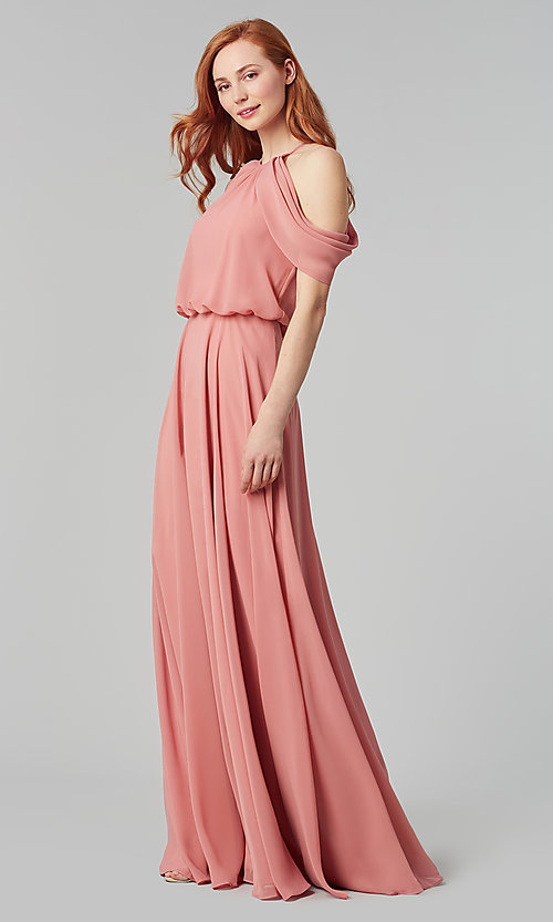 Image of chiffon bridesmaid dress by Kleinfeld. Style: KL-200012 Detail Image 4