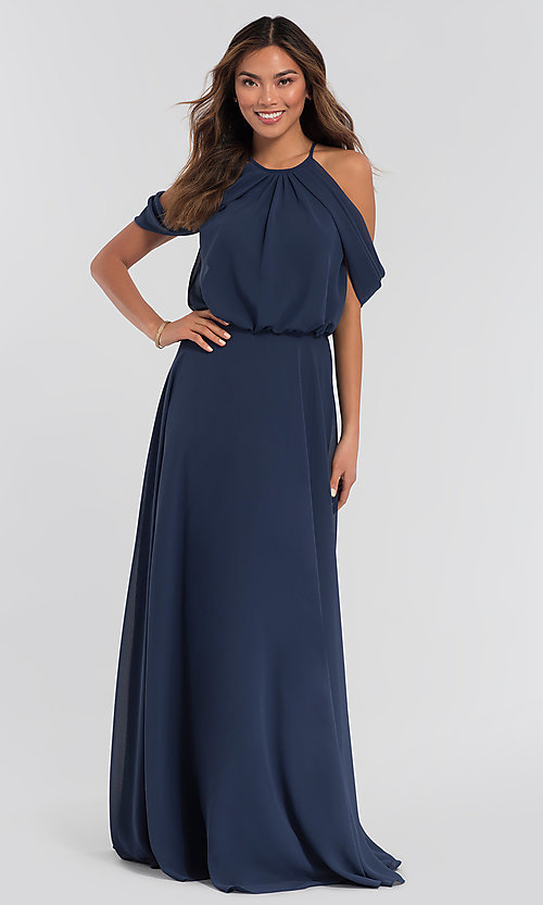 Image of chiffon bridesmaid dress by Kleinfeld. Style: KL-200012 Front Image