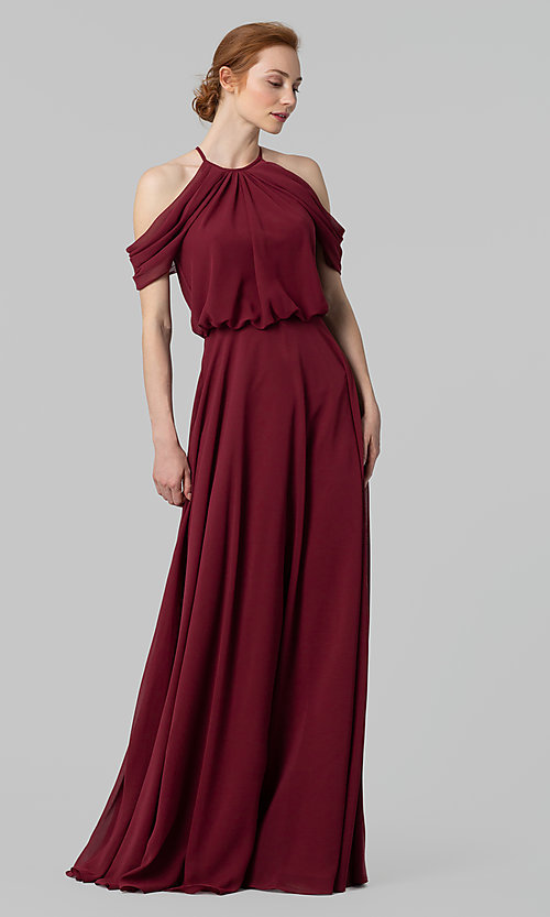 Image of chiffon bridesmaid dress by Kleinfeld. Style: KL-200012 Detail Image 1