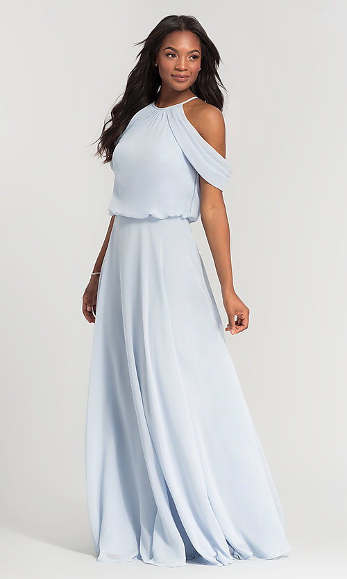 Image of chiffon bridesmaid dress by Kleinfeld. Style: KL-200012 Detail Image 5