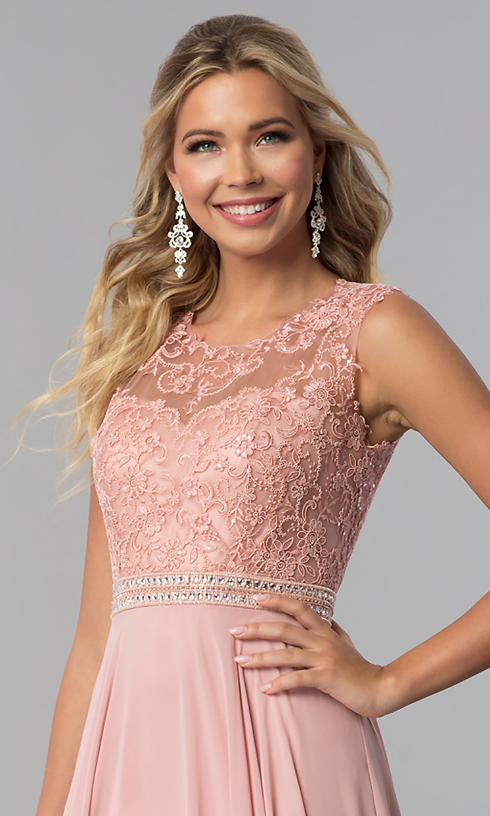 Sleeveless Long Prom Dress with Lace Bodice a40a2ce72