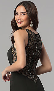 Image of sheer-lace-back long prom dress. Style: JT-665 Detail Image 2