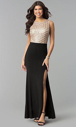 Sequin Cocktail Dresses Long Prom Gowns With Sequins