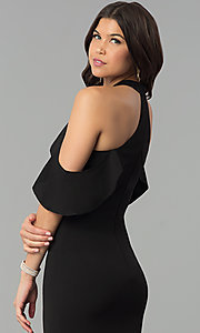 Image long cold-shoulder mermaid formal dress with ruffle. Style: MCR-2369 Detail Image 3
