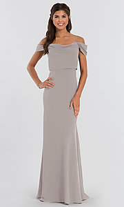 Image of Sabine long Jenny Yoo bridesmaid dress. Style: JY-BM-Sabine Detail Image 5
