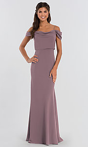 Image of Sabine long Jenny Yoo bridesmaid dress. Style: JY-BM-Sabine Detail Image 6
