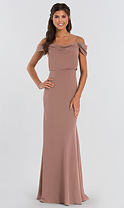 Image of Sabine long Jenny Yoo bridesmaid dress. Style: JY-BM-Sabine Detail Image 3