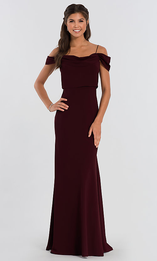 Image of Sabine long Jenny Yoo bridesmaid dress. Style: JY-BM-Sabine Front Image