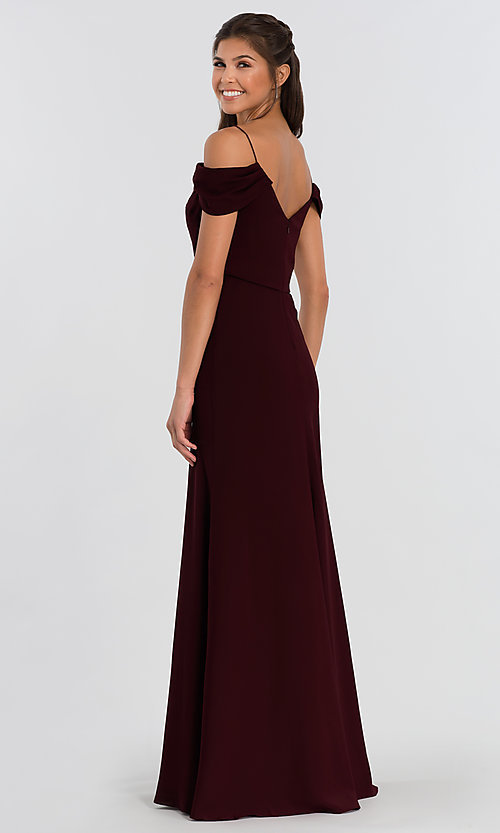 Image of Sabine long Jenny Yoo bridesmaid dress. Style: JY-BM-Sabine Back Image