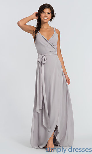 Parker Long Wrap Bridesmaid Dress