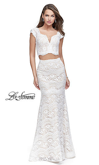 White Formal Gowns White Graduation Party Dresses