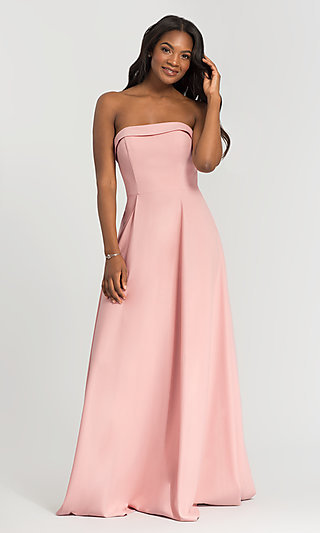 Long Crepe Strapless Bridesmaid Dresses by Kleinfeld
