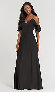 Image of cold-shoulder formal bridesmaid dress by Kleinfeld Style: KL-200027 Front Image