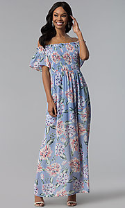 Image of long chiffon As U Wish casual dress with back slit. Style: AS-A903495E59 Front Image