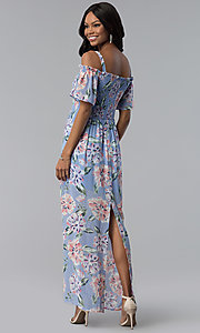 Image of long chiffon As U Wish casual dress with back slit. Style: AS-A903495E59 Detail Image 3