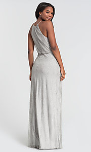 Image of beaded long Kleinfeld bridesmaid formal dress. Style: KL-200095 Back Image