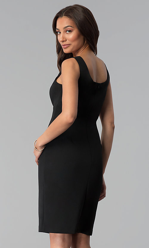 Image of mother-of-the-bride short black dress with jacket. Style: SD-86650 Detail Image 3