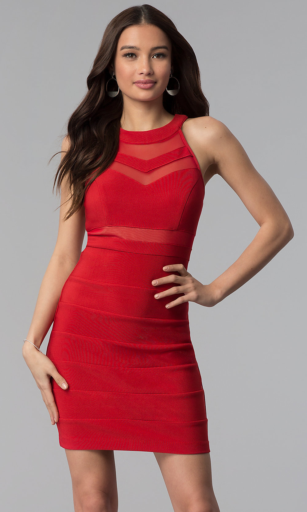 Wine Red Short A-line Party Dress - PromGirl