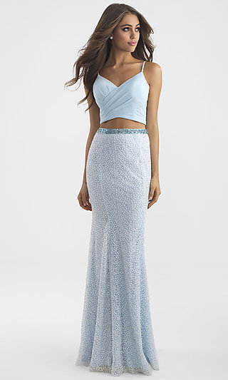 Embroidered Skirt Two-Piece Prom Dress