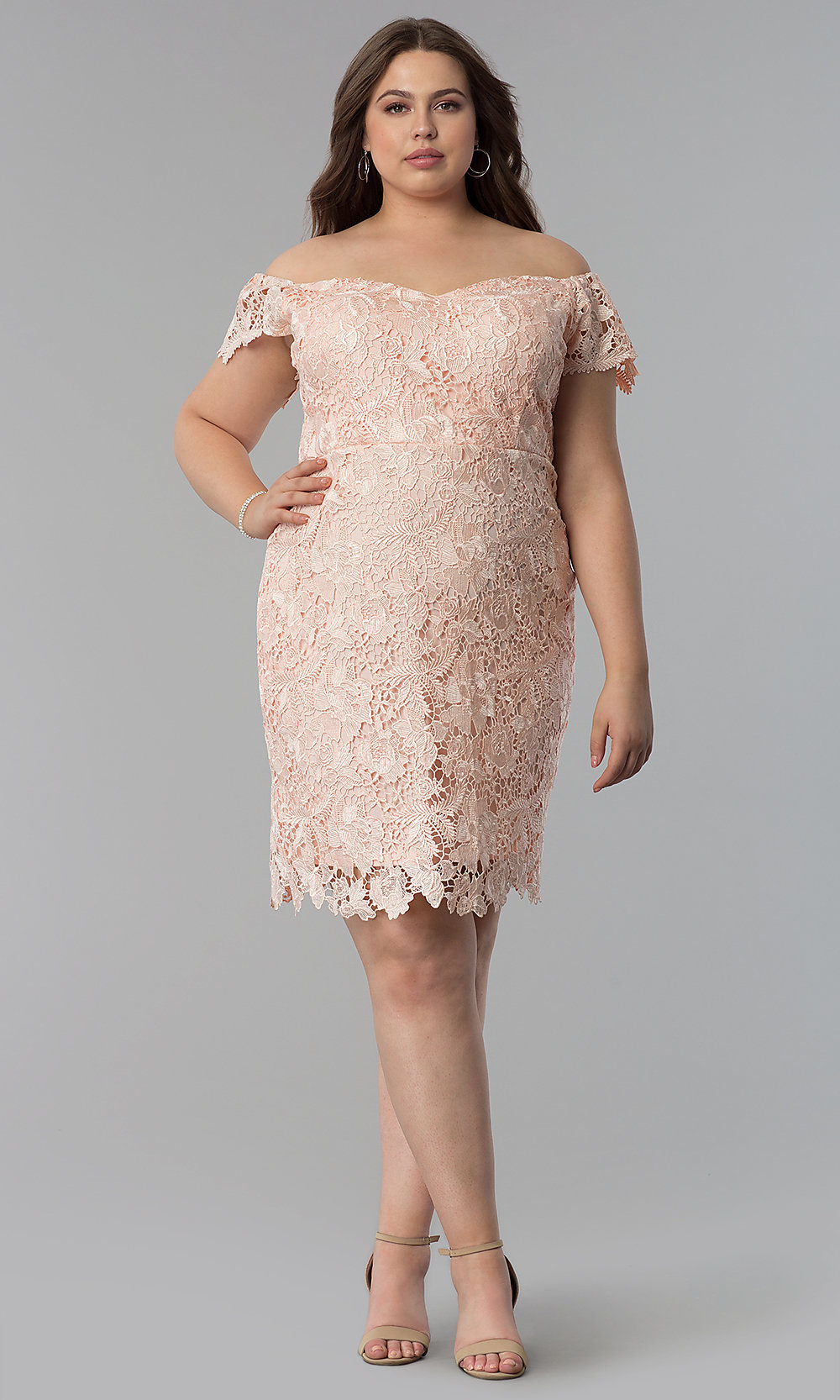 ef4dccb08ad35 ... plus-size wedding guest lace dress. Style  SOI. Tap to expand
