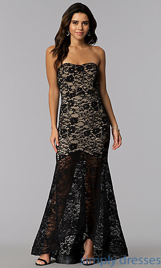 Strapless Prom Dresses, Strapless Evening Gowns