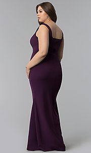 Image of long formal plus-size sweetheart prom dress. Style: SY-IXD5327AP Back Image