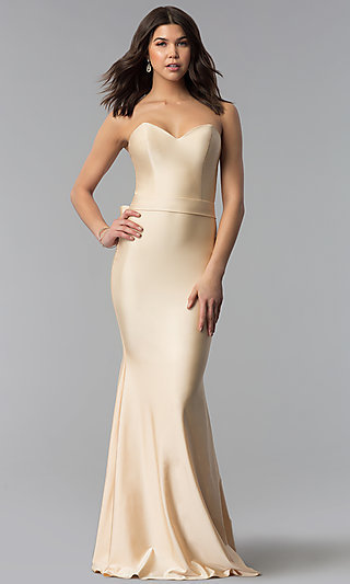 Long Strapless Sweetheart Atria Prom Dress