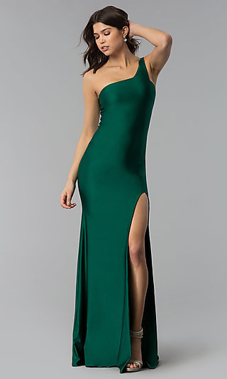Atria Long One Shoulder Prom Dress