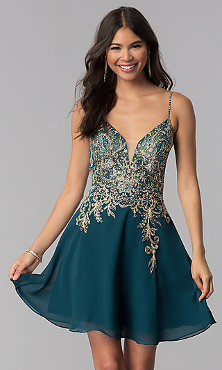 Short Teal JVNX by Jovani Homecoming Party Dress