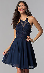 Image of short JVNX by Jovani Chiffon Homecoming Party Dress Style: JO-JVNX62596 Detail Image 1