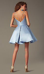 Image of semi-formal a-line Alyce homecoming dress in satin. Style: AL-3764 Back Image